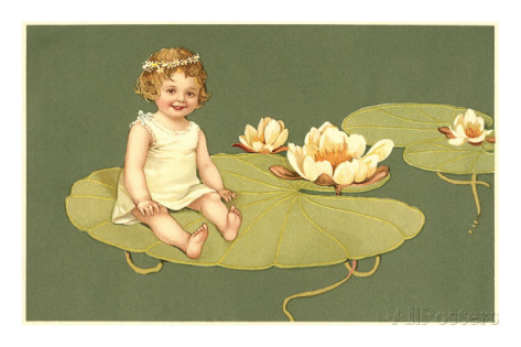Little-girl-on-lily-pad